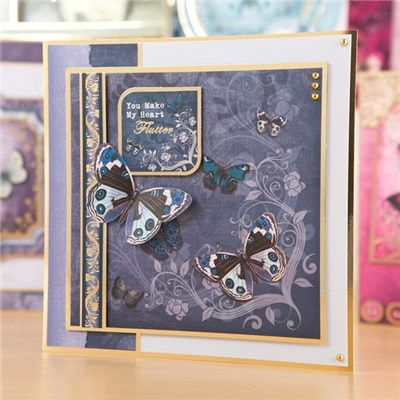 Hunkydory Flight of the Butterflies - Jewelled Edition Luxury Card Collection with Free Jewelled Edition Concept Cards (366840) | Create and Craft