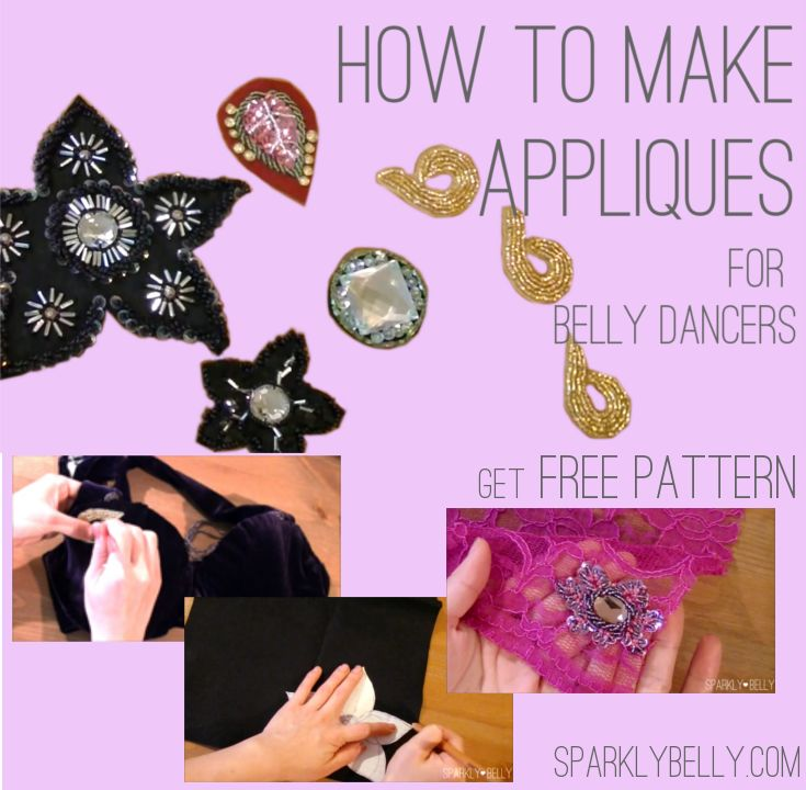 How to Make Appliques for Belly Dance Costumes - 3 Ways - SPARKLY BELLY @tiinatolonen