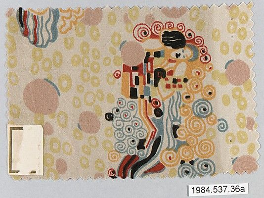 Textile sample Gustav Klimt (Austrian, Baumgarten 1862–1918 Vienna) Manufacturer: Wiener Werkstätte Date: ca. 1920 Classification: Textiles