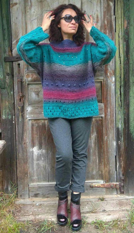 Handknit Sweater XXL Oversize Eco Sweater Chunky Women