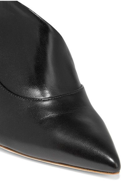 Malone Souliers - Crystal D'orsay Leather Pumps - Black - IT37.5