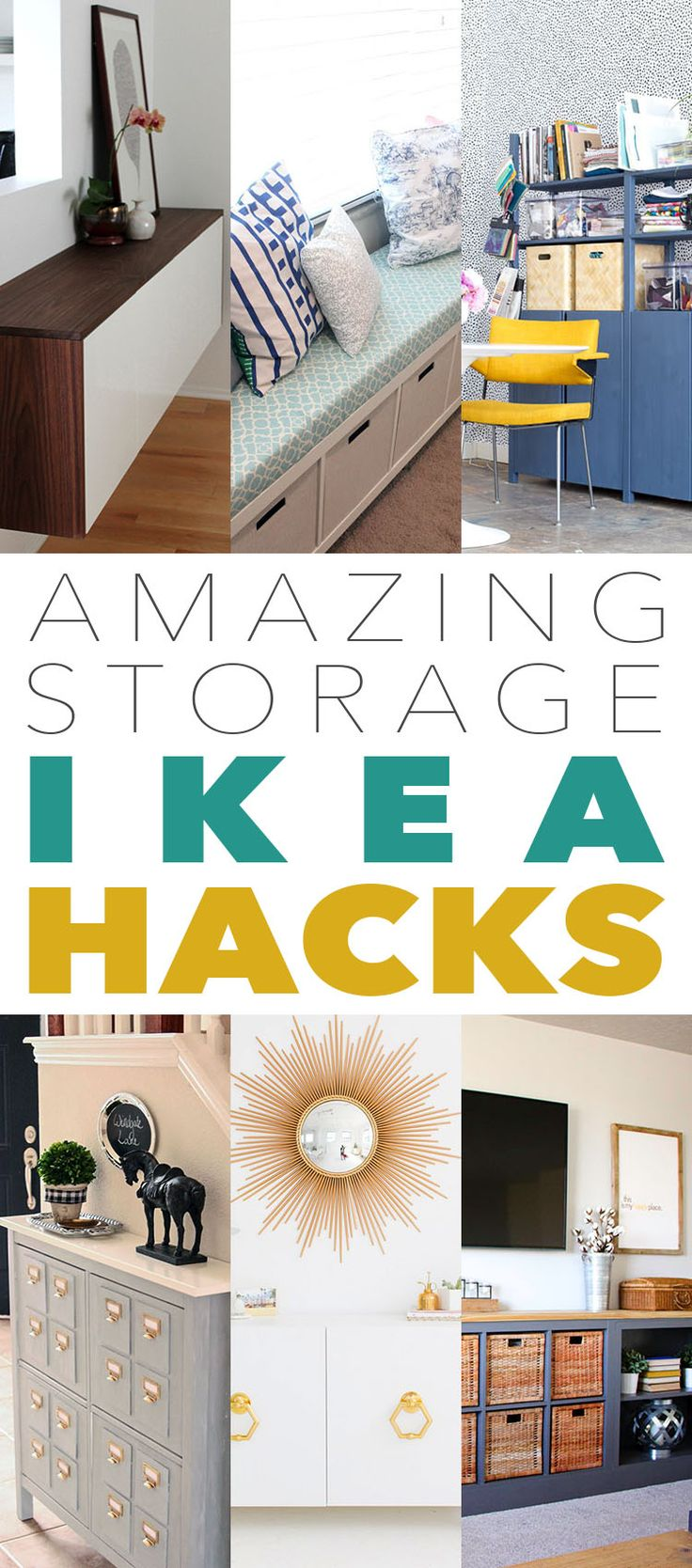 Today we are going to explore some really amazing Storage IKEA Hacks.  So if you need some fun ideas on where to store in style…check this collection out.  From Window Benches to Bar Carts…there is something here for everyone.  The best thing about all of these DIYS is that they can all be made in …