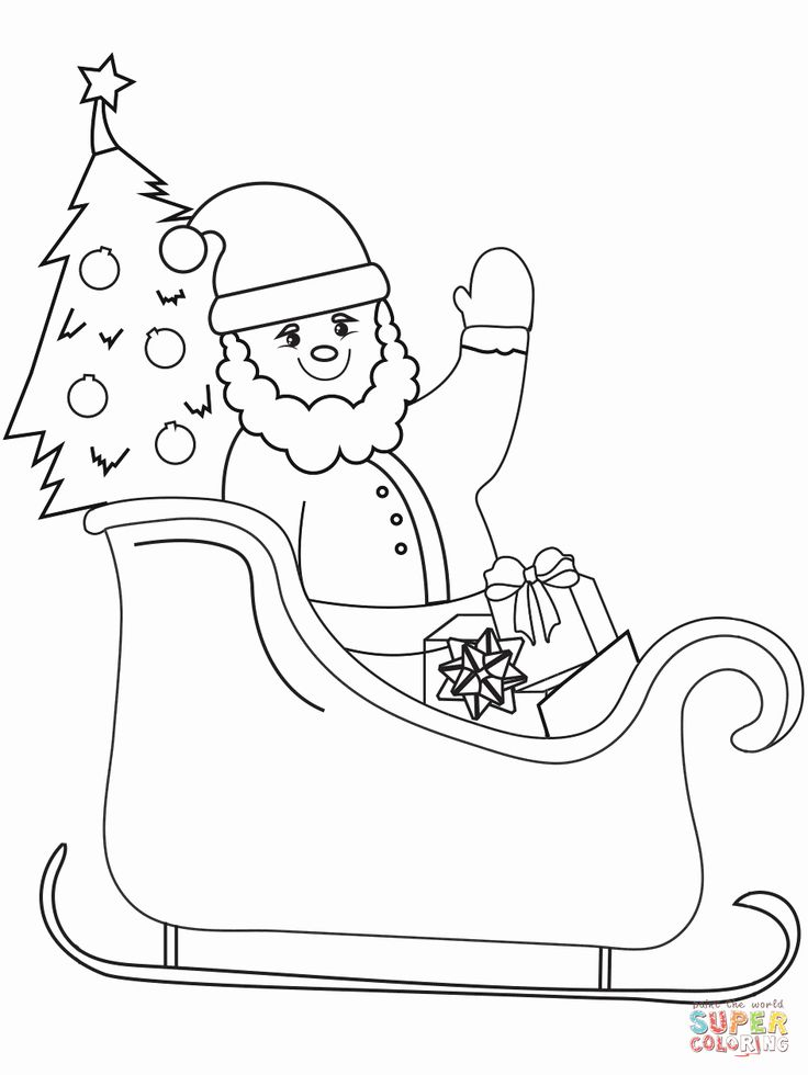 21 Santa Sleigh Coloring Page in 2020 | Coloring pages ...