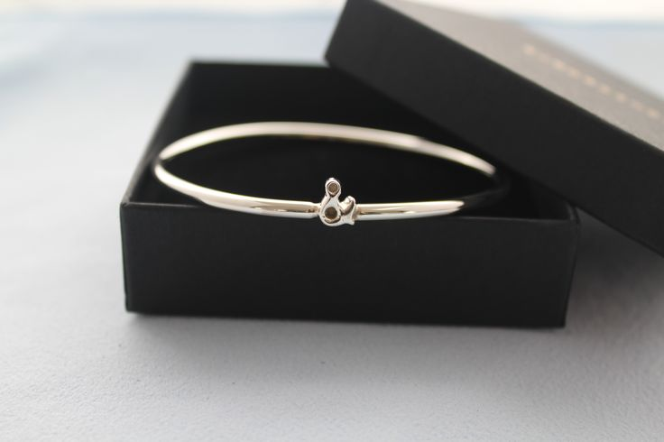 Sterling Silver & Bangle- Hand Crafted solid silver Bangle