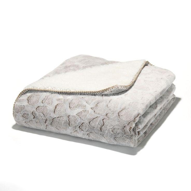 Plaid marron réversible 130x170cm - Sofy - Les plaids-Textiles et tapis-Salon et salle à manger-Par pièce - Décoration intérieur - Alinea