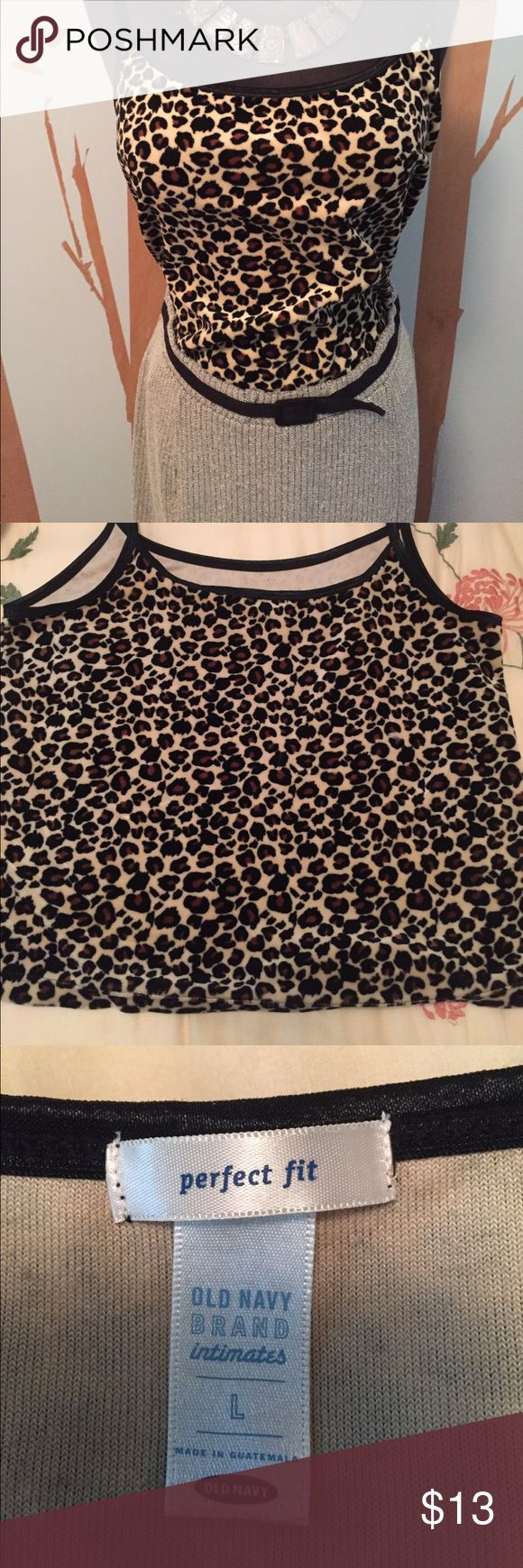 Old Navy velveteen cami Sexy animal print Velveteen cami by old navy size large 36 inch at bust perfect fit line Old Navy Tops Camisoles