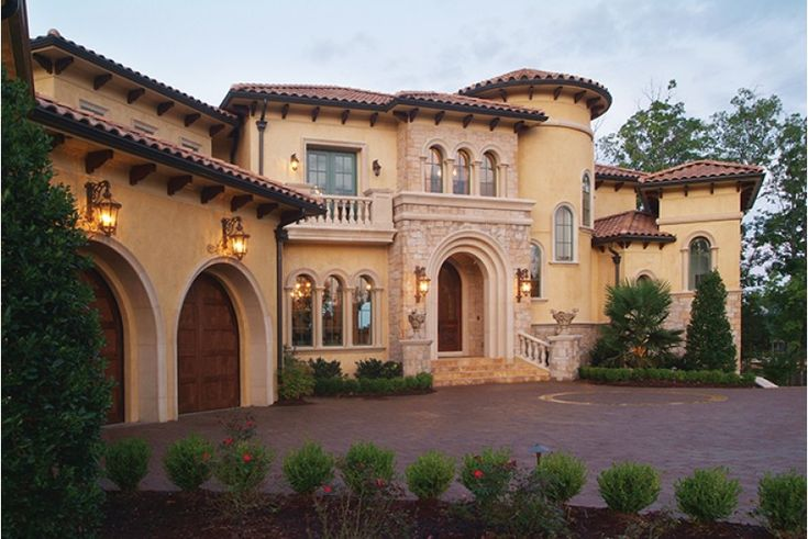 Home Plan HOMEPW76979 - 9104 Square Foot, 5 Bedroom 6 Bathroom + Mediterranean Modern Homes Home with 3 Garage Bays | Homeplans.com