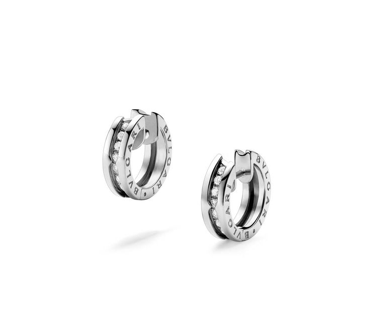 BZero1 White Gold Small Diamond Earrings 345581