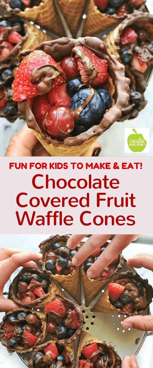 This fun fruit dessert is the perfect after school snack idea and is a healthy snack for kids. It's a great recipe for kids to make all on their own.