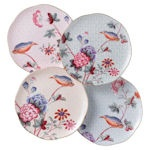 Gift Boxed    Wedgwood Harlequin Collection - Cuckoo   Set of 4Tea Plates