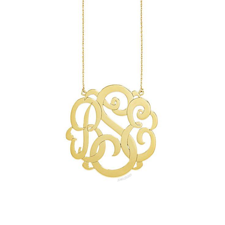 Ribbon Monogram Necklace