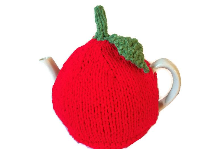 Apple Tea Cosy, Hand Knit, £15.99