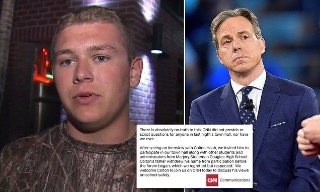 Shooting survivor claims CNN gave him scripted question for town hall
