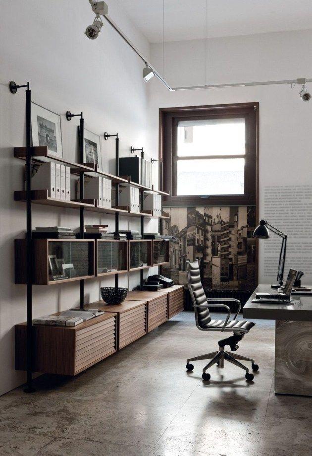 Brilliant Industrial Office Design Ideas 31 Industrial Home Offices Industrial Home Design Office Interior Design