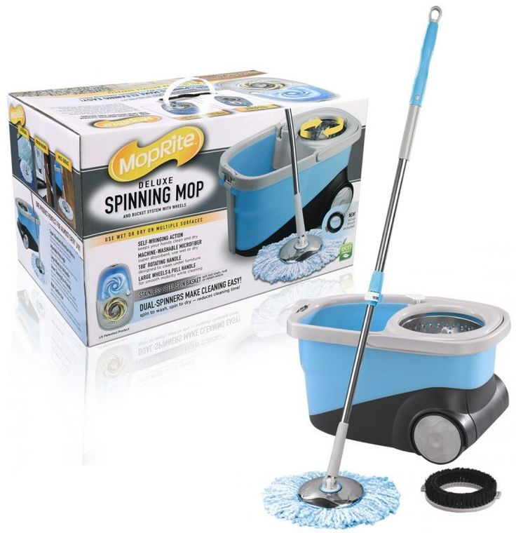 4. MopRite Deluxe Spin Mop and Bucket System