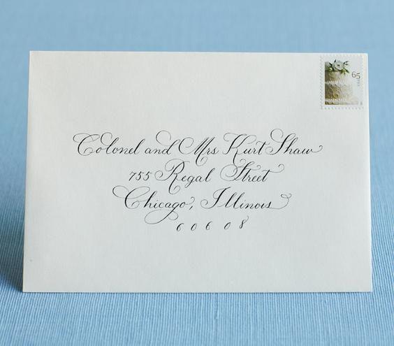 Best 25 Addressing Wedding Envelopes Ideas On Pinterest