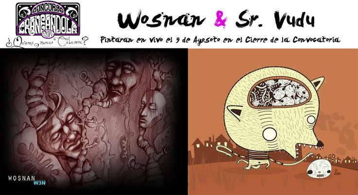 Pintura en vivo por Wosnan y Sr. Vudu en el cierre de la convocatoria
