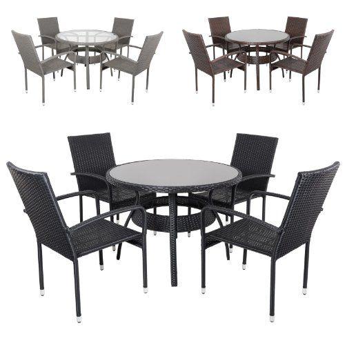 Ravenna-Rattan-Wicker-Aluminium-Garden-Patio-Dining-Table-Set-With-4-Chairs