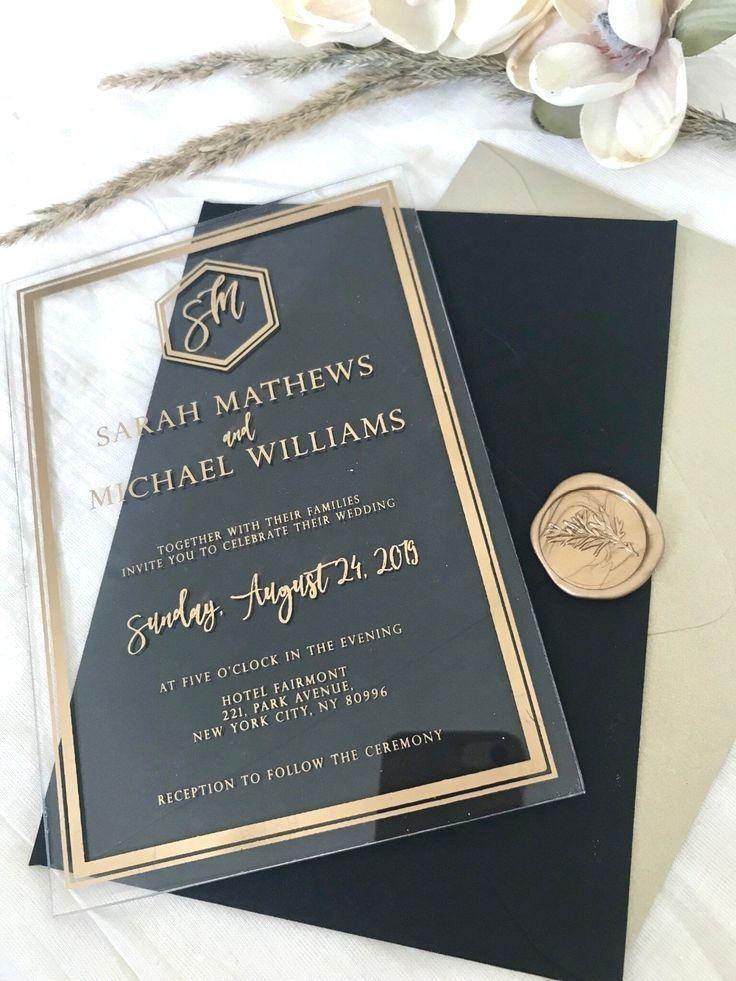 Wedding Card Cost Acrylic Wedding Invitations Black Wedding Invitations Acrylic Invitations