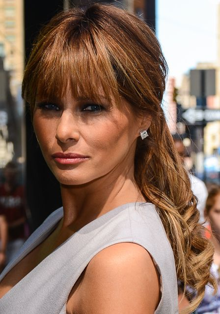 """Melania Trump Knows The Secret to Sexy And I Just Figured It Out! (Uh-huh. Smoky eye makeup. Now, I am growing my bangs out to once again have my hair be lower maintenance. This so feels like we're going in the wrong direction- as """"growing"""" the bangs is higher maintenace as it is, now- add more to the makeup routine? Sigh. Repeat to self: it's all for a good cause. It's all for a good cause..."""""""