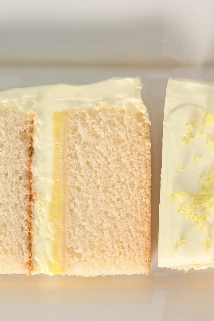 Lemon Cloud Cake - moist, tender cake is layered with two types of filling: pastry cream, and rich, fluffy lemon cream.