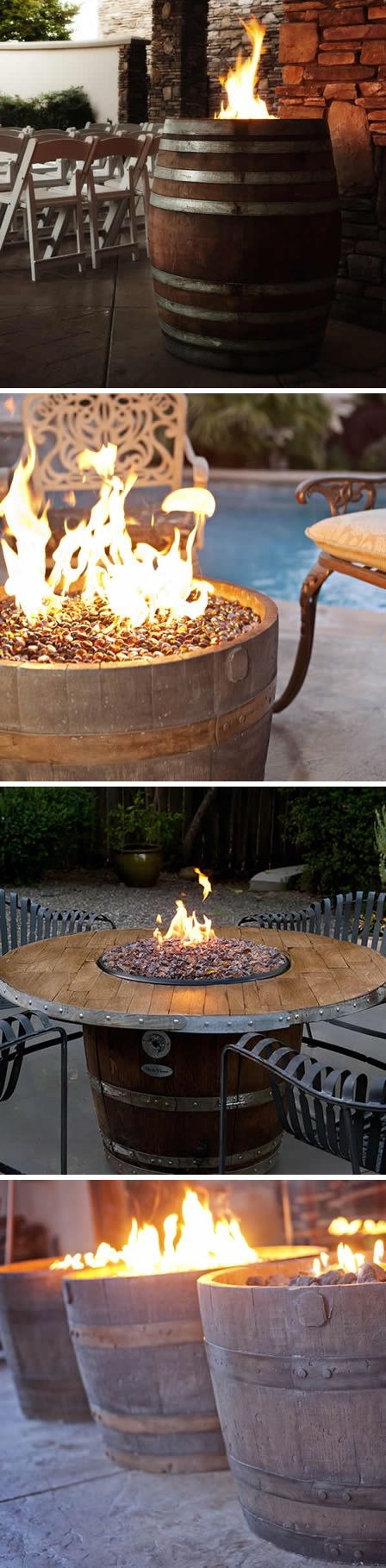 Whiskey Barrel Fire Pits