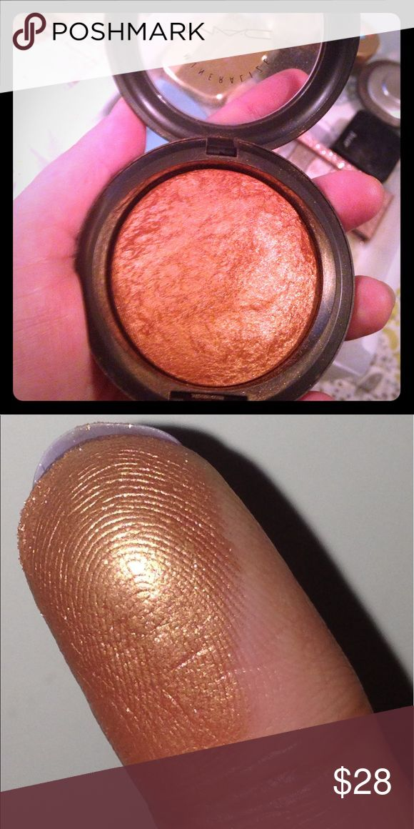 "MAC ""Gold Deposit"" Mineralize Skinfinish MAC ""Gold Deposit"" Mineralize Skinfinish -only swatched! 😍 MAC Cosmetics Makeup Bronzer"