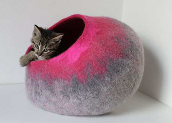 """This item is already made and is READY TO SHIP. Sizes: XXS for hedgehogs cocoon size: 9.8x9.8x4.7 (25x25x12cm) $29 XS for small kittens under 3.3 pounds (1.5kg) cocoon size: 13.7x13.7x6"""" (35x35x15cm) $39 S for pet 2-4kg (4.5-9 pounds) cocoon size: 15x15x7.5 (38x38x19cm) $53 M for pet"""