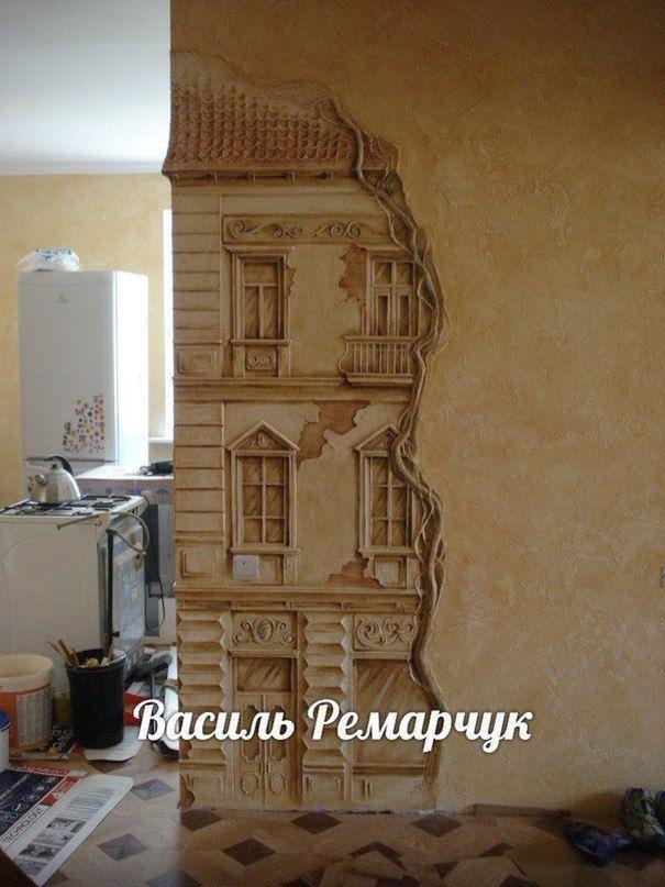 Барельеф скульптура лепнина роспись