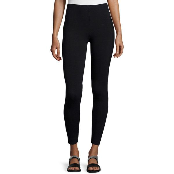 Eileen Fisher Viscose Jersey Leggings Plus Size ($108) ❤ liked on Polyvore featuring plus size women's fashion, plus size clothing, plus size pants, plus size leggings, black, women's plus size pants, womens plus pants, jersey leggings, eileen fisher leggings and pull on pants