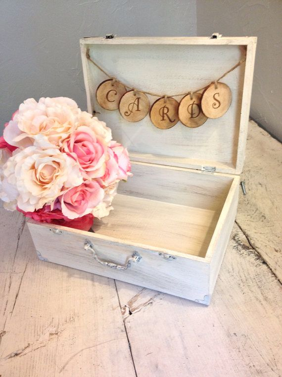 Rustic Antique White Wedding Card Box By Burlap An Linen Co