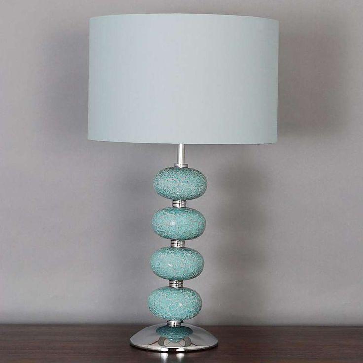 Crackle Glass 4 Ball Lamp | Dunelm