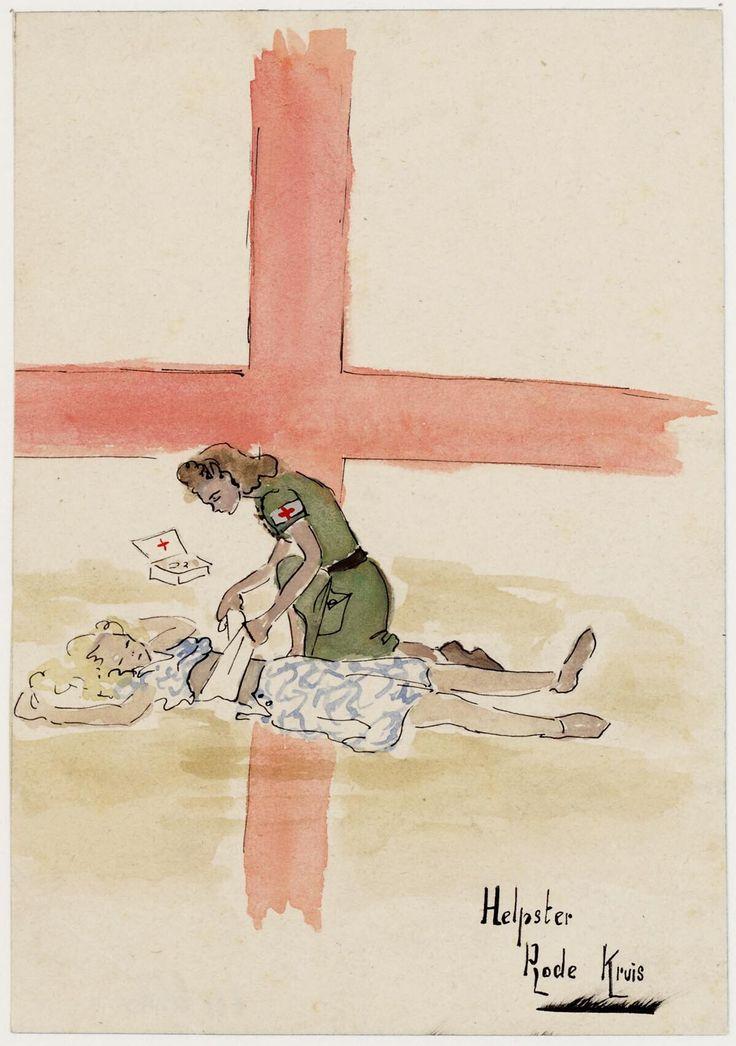 Red Cross by Joke Broekema, 1942-1945. Museon, CC BY
