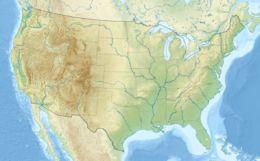 Il Lago Michigan ed il Lago Huron sono fisicamente un unico bacino. Se considerati separatamente, l'Huron ed il Michigan sono rispettivamente il terzo ed il quarto tra i più estesi laghi d'acqua dolce. Mappa di localizzazione: Stati Uniti d'America