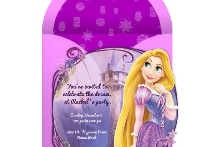 Plan the best day ever for you and your guests, starting with this free online Tangled party invitation!
