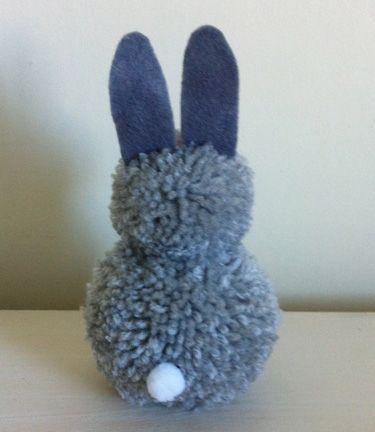 reverse of pompom bunny