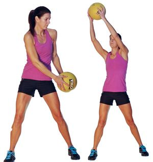 Try This Beginner Abs and Back Workout to Strengthen Your Core: Med Ball Woodchop
