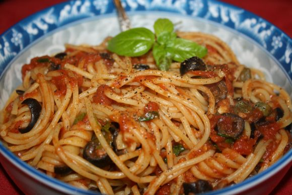 "Pasta Puttanesca (""Whore Pasta"") was named for the prostitutes who cooked this cheap, quick meal between clients."