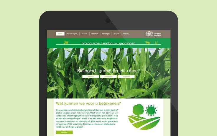 website Biologische Landbouw Groningen, Provincie Groningen