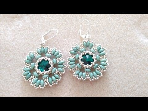 DIY - Tutorial Orecchini Flower - YouTube