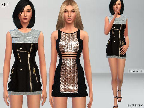 Sims 4 black dress 6 months