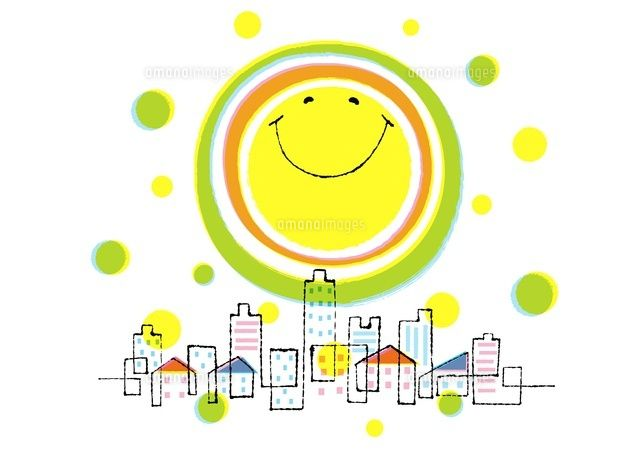 笑顔の太陽と街 (c)Formmart