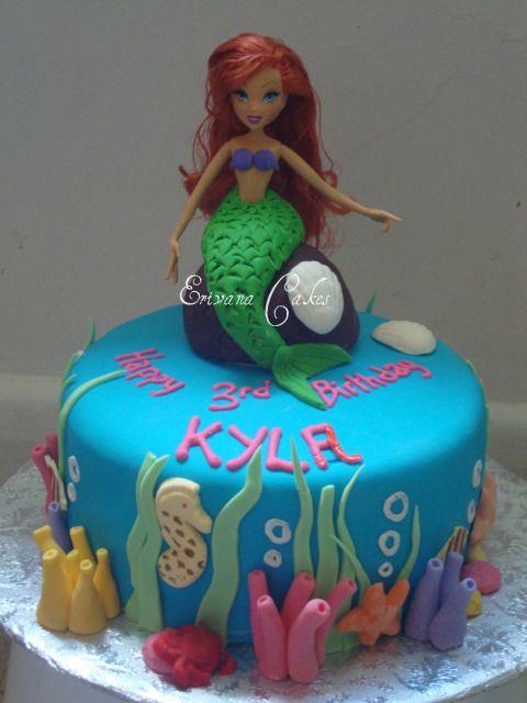 Ariel themed cake 1 (B092)