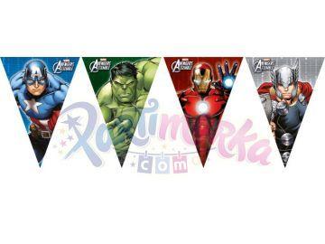 Avengers Yenilmezler Doğum Günü Bayrak Afişi