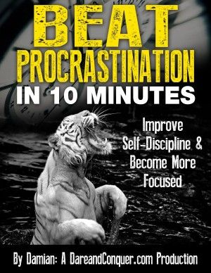 Kickass e-book course about becoming more focused and eliminating procrastination just by spending 10 MINUTES per day!  The best program online! It's totally free!