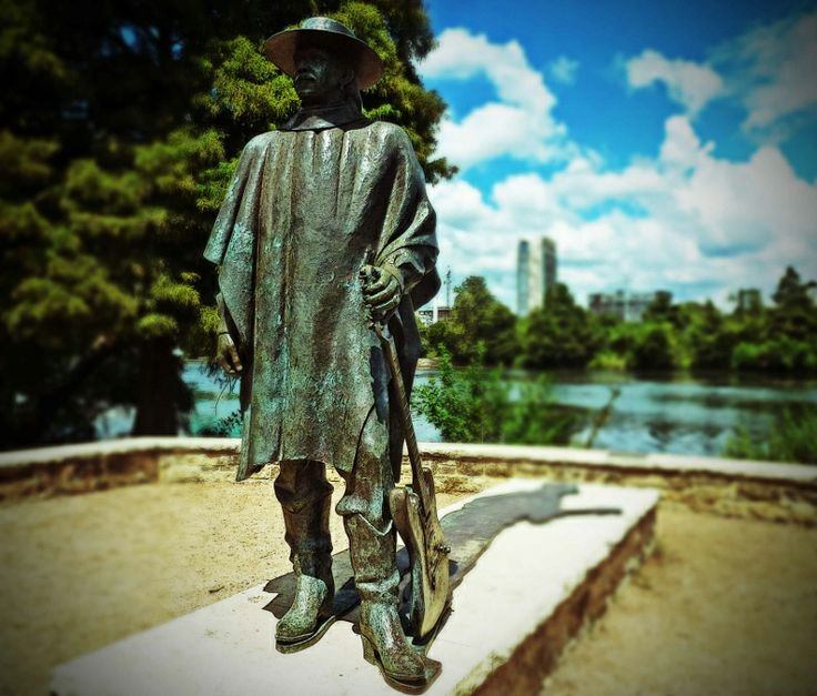 The Stevie Ray Vaughan statue in Austin, Texas is a gathering place for SRV fans.