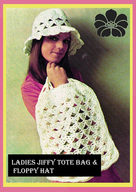 PDF Vintage 1970s Ladies Womens Crochet Pattern Summer Beach