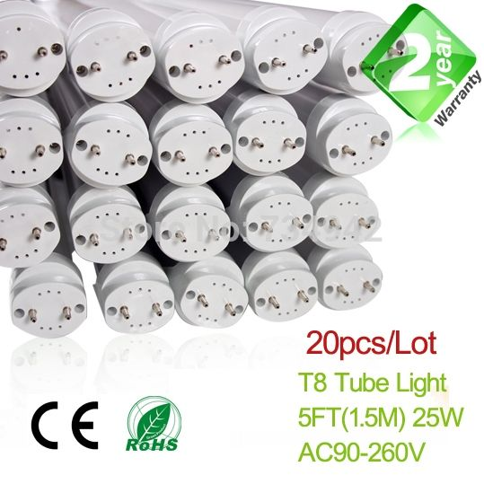 579.00$  Buy now - http://alihg4.worldwells.pw/go.php?t=32213638441 - 20pcs/Lot 5ft 25W T8 LED Fluorescent Tube 2 Year Warranty SMD2835 Epistar 579.00$