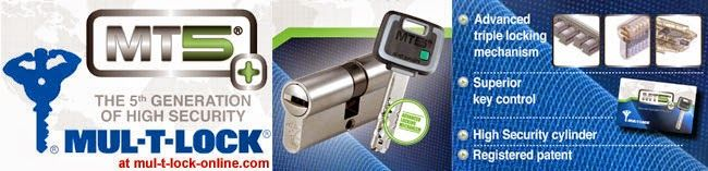 ΚΛΕΙΔΑΡΙΕΣ ΑΣΦΑΛΕΙΑΣ: Κύλινδρος - αφαλός ασφαλείας MUL-T-LOCK MT5+