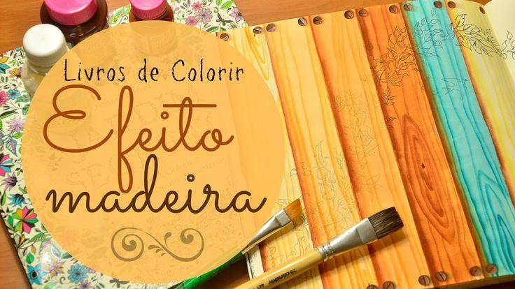Efeito Madeira - Livros de colorir